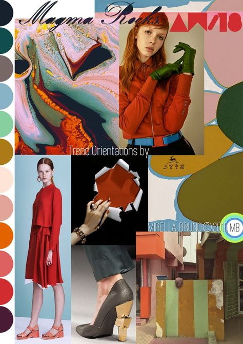 Inspiration Information - © Mirella Bruno Print Trend Colour Designs