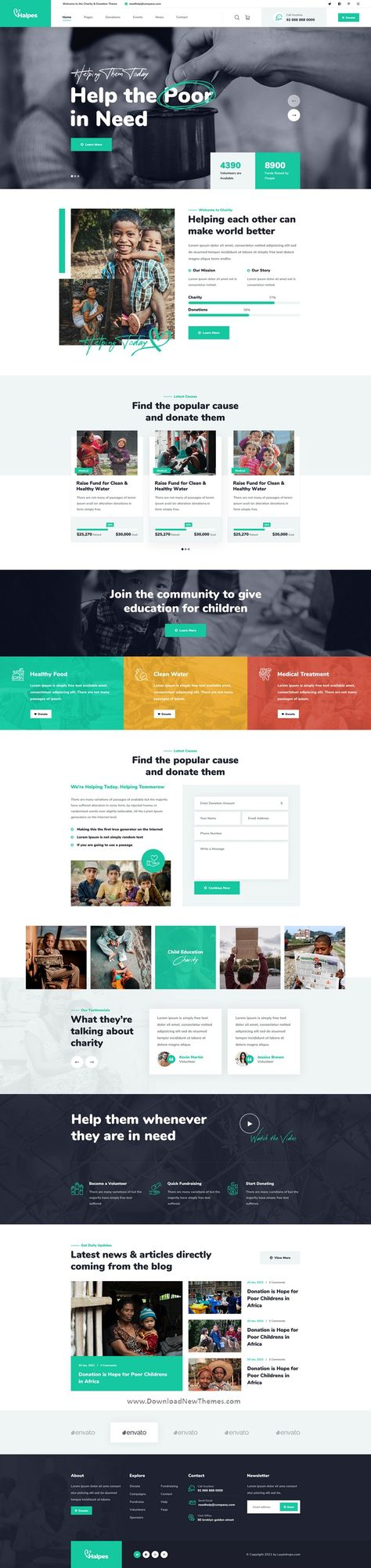 Best 3in1 Non Profit Charity Premium PSD Template