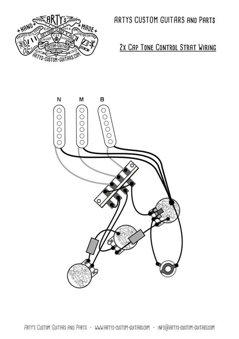 Arty's Custom Guitars Wiring Diagram Plan Stratocaster