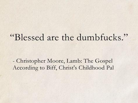 Christopher Moore Lamb The Gospel According to Biff