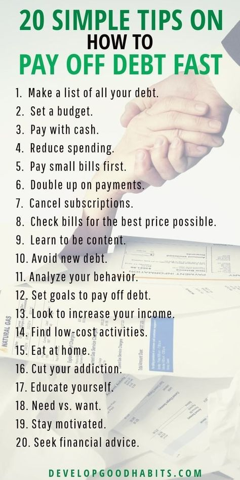 20 Simple Tips on How to Pay Off Debt Fast