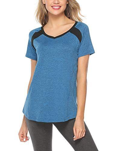 Respirant et Facile /à Absorber la Sueur iClosam T-Shirts et Tops de Sport Femme /à sans Manche Tee Shirt Running//Fitness//Yoga//Pilate