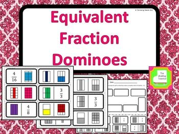 Equivalent Fractions Domino Game