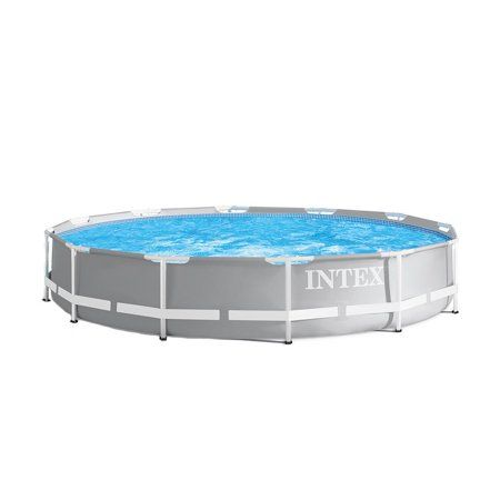 Intex 26710eh 12ft X 30in Prism Metal Frame Above Ground Swimming Pool No Pump Walmart Com Above Ground Swimming Pools Easy Set Pools Round Above Ground Pool