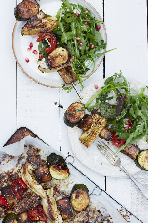 Tamari Marinated Tofu Skewers | Honestly Healthy Food