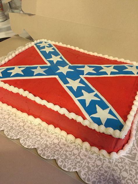 Confederate flag cake