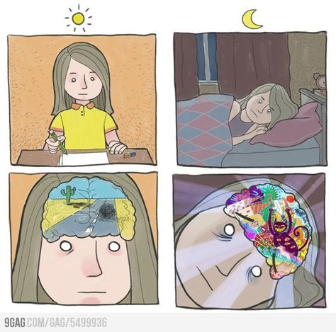 Brain activity. happens most of the time.