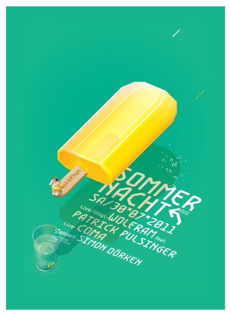 Sommernacht Creative Event Poster Examples - Venngage Flyer Examples