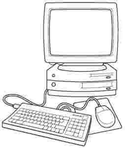 Electronic Coloring Pages Computer Basic Coloring Pages Preschool Fun