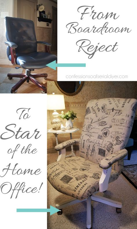 Give a desk chair a whole new look! It's easier than you think!