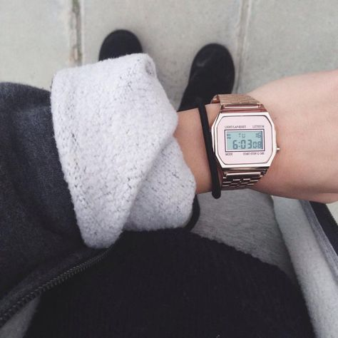 Casio Rose Gold Watch♡