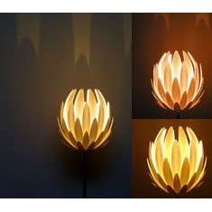 Vintage satin art glass lampshade acanthus flower lamp shade matte lotus lamp aloadofball Choice Image