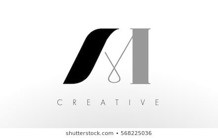 A M Letter Logo Design Creative Modern Am Letters Icon