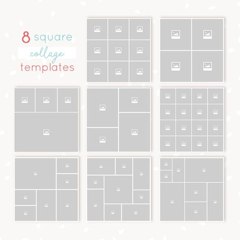 Square Collages Bundle Collage Template Instagram Collage