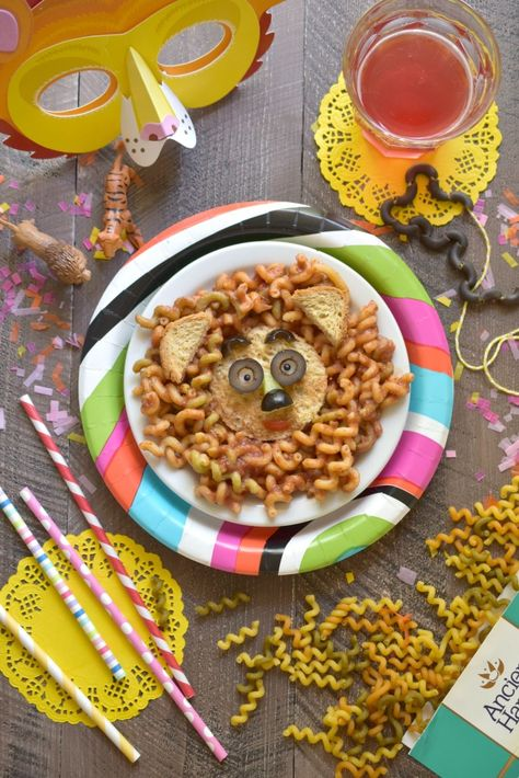 adorable gluten free lion pasta faces it s a pasta party with ancient harvest veggie curls
