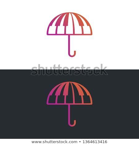 Music Umbrella Logo Icon Combination Of Umbrella Shape And Piano Tuts As Symbol Of Music Vector File Eps 10 Color Graphic Design Logo Logo Icons Logo Design
