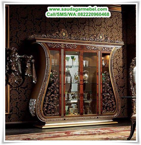 lemari hias mewah raffles ruang tamu (with images