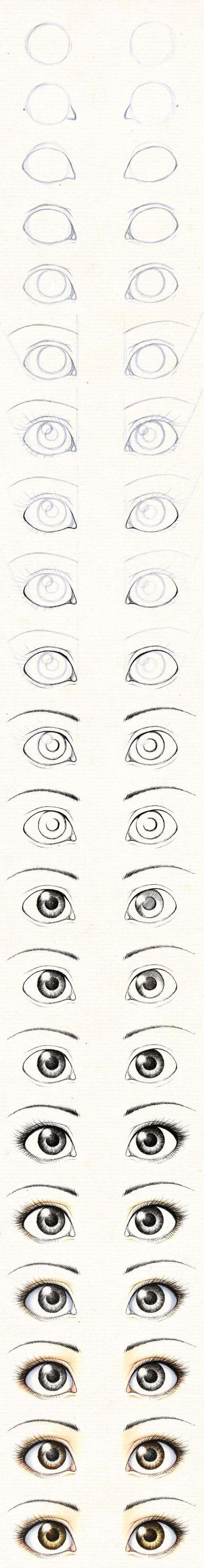 Guía para aprender a dibujar los ojos de las muñecas. | PatronesMil