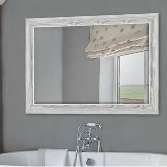Union Rustic Longwood Rustic Beveled Wall Mirror Reviews Wayfair Bathroom Vanity Mirror Bathroom Mirror Bathroom Decor