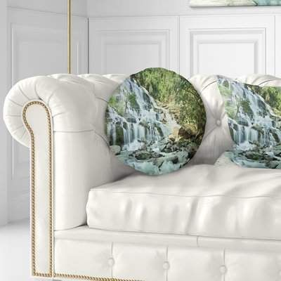 East Urban Home Landscape Photography Maeyar Waterfall In Rain Throw Pillow Wayfair Throw Pillows Throw Pillow Sizes Country Throw Pillows