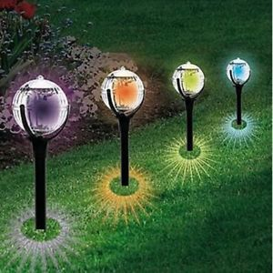 Image Is Loading Modern Large Solar Powered Colour Changing Globe Ball Outdoor Garden Lighting Solar Lawn Lights Solar Lights Garden