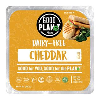 Good Planet Cheddar Cheese Slices Plant Based Cheese Vegan Cheese Dairy Free Cheese