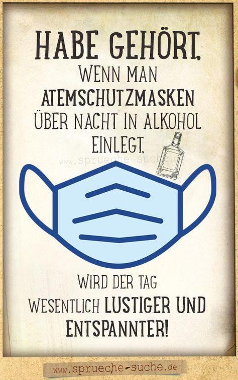 Atemschutzmasken über Nacht in Alkohol einlegen