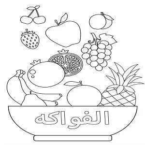 رسومات اطفال للتلوين فواكه Pdf رسمات بسيطة جاهزة للطباعة والتحميل للأطفال الصغار والروضة Fond D Ecran Pastel Apprendre L Arabe Enfant