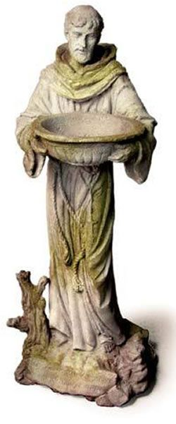Saint Francis with Bowl Outdoor Religious Garden Statue Statuary