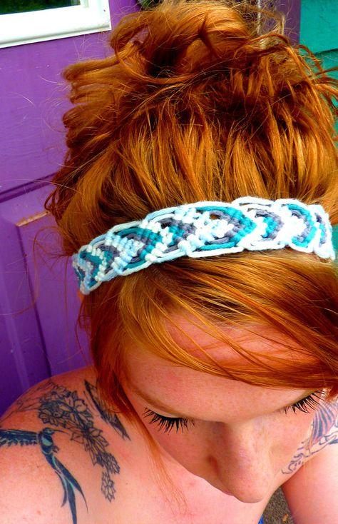 Boho Macrame Headband  Multiple Colors by knottedbynature on Etsy, $12.00