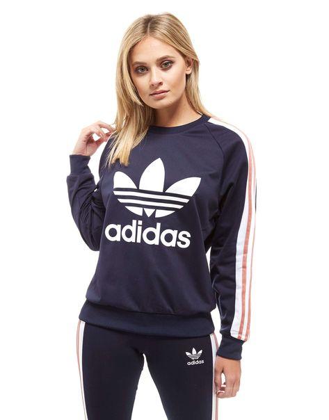 adidas Originals 3-Stripe Panel Crew Sweatshirt - Shop ...