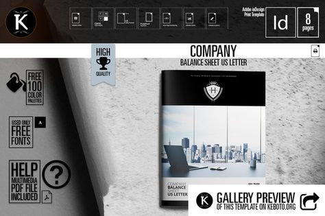 Company Balance Sheet US Letter by Keboto on @creativemarket - company balance sheet template
