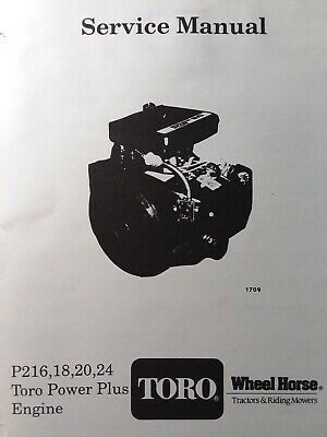 Onan P216 Engine Service Manual Agricultural & Construction ...