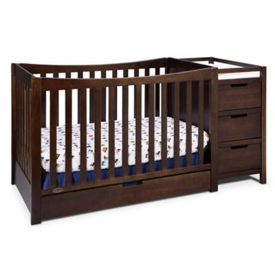 Graco Remi 4 In 1 Convertible Crib And Changer In Espresso Convertible Crib Cribs Crib With Changing Table