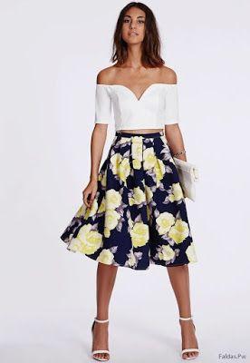 0ab20c268 Faldas con Flores | blusas en 2019 | Faldas, Faldas floreadas y Moda