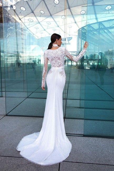 Ivory Lace Wandy Modern Wedding Dress Size 8 M Tradesy In 2020 Designer Wedding Dresses Wedding Dresses Wedding Dress Couture