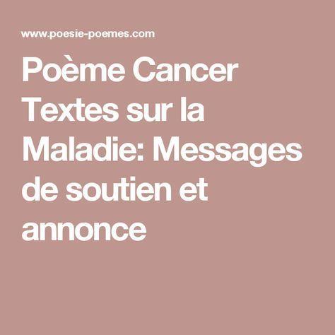 Poème Cancer Textes Sur La Maladie Messages De Soutien Et
