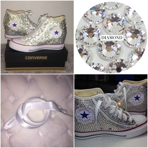 Custom pearls   diamond converse so many styles all sizes! FREE shipping  worldwide usa code 4abbbfd0e
