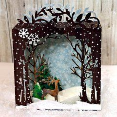 Sizzix Thinlits Dies NEW Sizzix Winter Scene Box Die Set