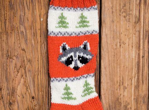 raccoon stocking christmas stocking christmas stocking patterns christmas stocking design family stockings christmas knitting by sweetlymadejustforu on