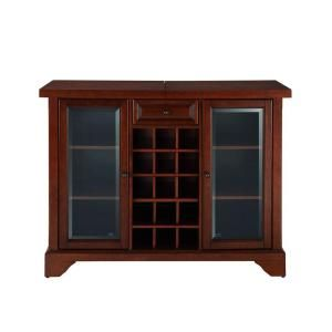 Crosley Lafayette Mahogany Bar With Sliding Top Kf40002bma The Home Depot In 2020 Home Bar Cabinet Bar Cabinet Bars For Home