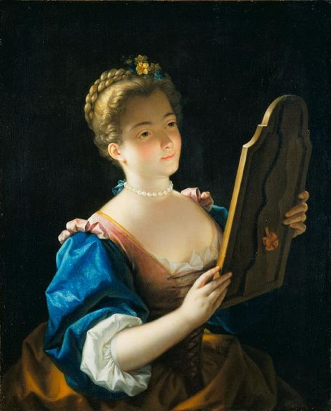 Jean Raoux,  'A Lady at her Mirror' (1720s)    French painting around 1700 was in full transformation. While Antoine Watteau became famous, his contemporary Jean Raoux was a gifted but little known artist.  The Wallace Collection  Discover the coolest shows in New York at www.artexperience...
