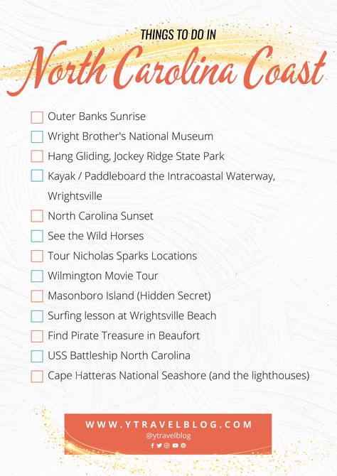 Planning to visit North Carolina? Don't miss this list of unique and fun things to do in North Carolina coast for your next North Carolina beaches vacation. #travel #NorthCarolina #NC #beaches #carolina #NorthCarolinatravel