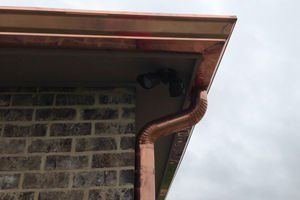 2019 Copper Gutters Cost Guide Price Per Foot Installation Downspouts Copper Gutters Gutters Outdoor Kitchen Design