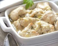 Emincé de poulet à la crème et au vin blanc (facile, rapide) - Une recette CuisineAZ