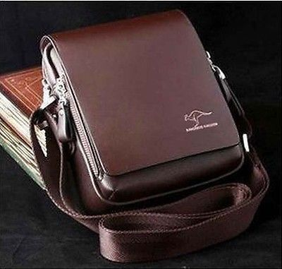 Authentic kangaroo kingdom Men/'s Genuine Leather//PU Small Shoulder bag /_M155S