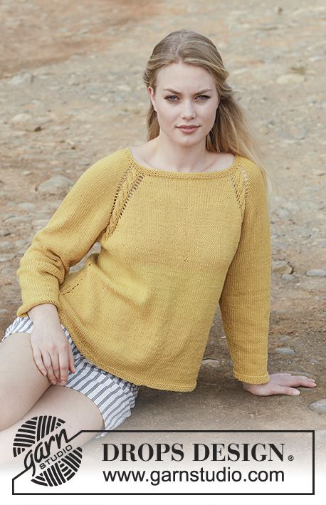 Golden Girl Drops 187 25 Sweater With Cables Lace Pattern