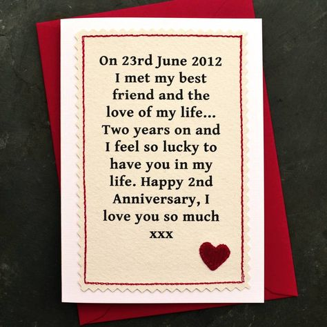 When We Met Personalised Anniversary Card Cards For Boyfriend