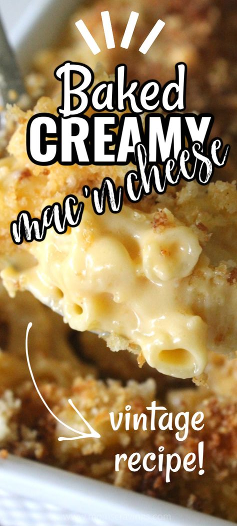 This macaroni and cheese is my favorite side dish to take to a party - everyone LOVES it! The crispy breadcrumbs on top take it to the next level! #macaroni #hotsidedish #partysidedish