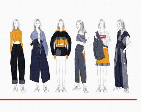 Super Fashion Illustration Inspiration Sketches Sketchbooks Ideas ม ร ปภาพ ภาพสเก ตแฟช น ช ด เส อผ า